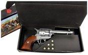 Revolveris dekoratyvinis 1-1106/G dėžutėje su 6-mis kulkomis