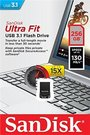 Sandisk Ultra Fit™ USB 3.1 - Small Form Factor Plug and Stay Hi-Speed USB Drive 256 GB, USB 3.1, Black