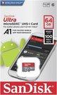 SanDisk Ultra microSDHC 64GB 100MB/s.Adapt.SDSQUAR-064G-GN6MA