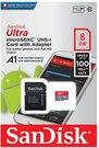 Sandisk ULTRA PLUS microSDHC / microSDXC UHS-I 8GB atminties kortelė