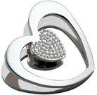 Sąvarža širdelė metalinė su kristalais M628 Mascagni