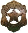 Šerifo ženklelis 110 CHIEF OF POLICIE D 6 cm