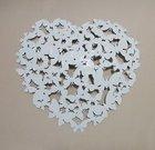Sienos dekoracija metalinė Drugeliai širdelės formos H:52 W:52 cm ZH950 balta