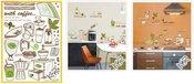 Sienų dekoravimo lipdukai KR-0049 50X70