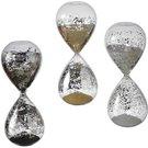 Smėlio laikrodis 30 min. 8x20 cm puoštas sidabru O1283 Mascagni
