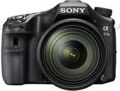 "Sony A77 II Black with 16-50mm lens, 24.7MP Exmor APS-C CMOS sensor, 3.0"" LCD, Zoom 4x, 79 points AF, Wi-Fi"