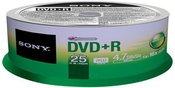 1x25 Sony DVD+R 4,7GB 16x Speed, Cakebox Cake Box