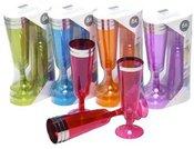 Taurės šampanui 6 vnt. plastikinės 871125256665 148 ml (5 spalvų) ddm