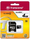 Transcend MicroSDHC 4GB + Adapteris