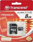 Transcend 8GB microSD SDHC atminties kortelė su adapteriu