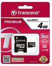 Transcend microSDHC 4GB Class 10 + SD-Adapter
