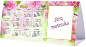 """Trikampis pastatomas kalendorius """"Gėlės"""""""