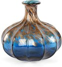 Vaza stiklinė bronzos/mėlynos spalvos GV479 H:22 W:22 D:22 cm