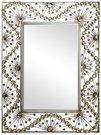Veidrodis su aukso spalvos kristalais M366 H:78 W:60