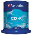 1x100 Verbatim Data Life CD-R 80 700MB, 52x Speed, Cake Box