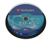 1x10 Verbatim CD-R 80 / 700MB 52x Speed Extra Protection CB