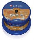 1x50 Verbatim DVD-R 4,7GB 16x Speed, matt silver