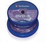 Verbatim DVD-R 4.7GB 16X50 pakuotė AZO