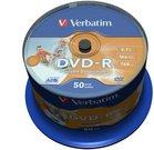 1x50 Verbatim DVD-R 4,7GB 16x Speed, photo printable
