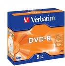 1x5 Verbatim DVD-R 4,7GB 16x Speed, Jewel Case