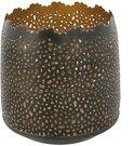 Žvakidė ažūrinė metalinė H:10 W:10 D:10 cm HE864 aukso spalvos psb