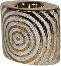 Žvakidė keramikinė aukso spalvos 98112 9,5x11x7 cm