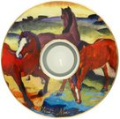 Žvakidė porcelianinė D 15 cm 66-900-59-8 Marc. Raudoni arkliai Goebel