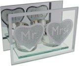 Žvakidė stiklinė 2-ms žvakutėms Mr&Mrs H:10 W:14 D:6 cm WG560 vest