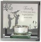 Žvakidė stiklinė vienai žvakutei Family H:12 W:12 D:6 cm 61565