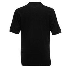 Vyriški polo marškinėliai su Jūsų nuotrauka, užrašu, juodi