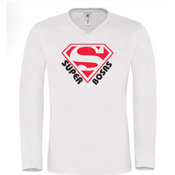 Vyriški marškinėliai ilgomis rankovėmis su Jūsų nuotrauka, užrašu, balti