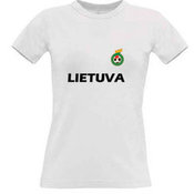 Women's T-shirt with your choice of photos, notes, white