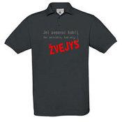 Vyriški polo marškinėliai su Jūsų nuotrauka, užrašu, pilki