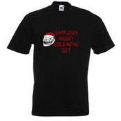 Vyriški marškinėliai su Jūsų nuotrauka, užrašu, juodi