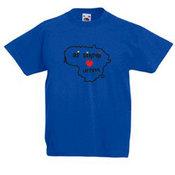 Vaikiški marškinėliai su Jūsų nuotrauka, užrašu mėlyni