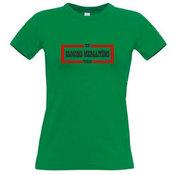 Moteriški marškinėliai su Jūsų nuotrauka, užrašu, žali