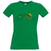 Moteriški marškinėliai su fotofabriko logotipu, žali