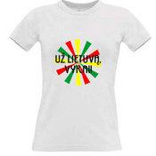 Moteriški marškinėliai su fotofabriko logotipu, balti