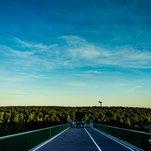 Trijų mergelių tiltas - dangus