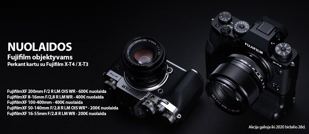 Nuolaidos Fujifilm objektyvams