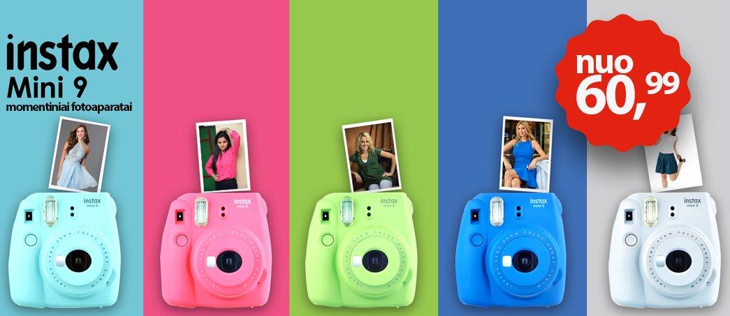 Instax mini 9 fotoaparatai
