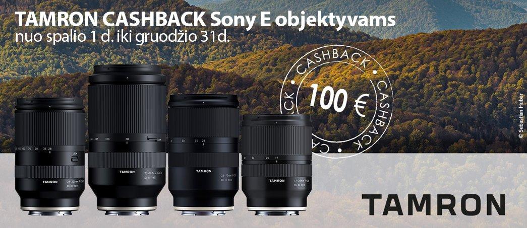 Tamron Cashback Sony E objektyvams