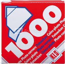 Kampučiai nuotraukoms, balti skaidrūs, 1000 vnt.  KLS 42.515.30