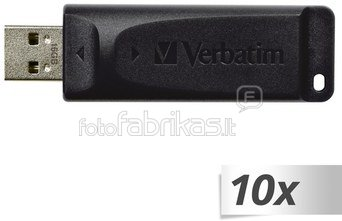 10x1 Verbatim Store n Go Slider 16GB USB 2.0