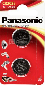 1x2 Panasonic CR 2025 Lithium Power