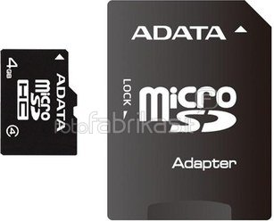 4GB microSDHC card with SD adapter (class 4), retail