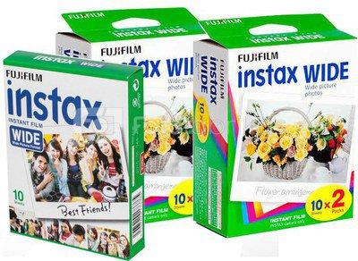 Fujifilm Fotoplokštelės Instax WIDE 50vnt.