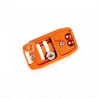 3 Legged Thing 70mm Base Plate with screen slope and strap connector. Compatible with Arca Swiss Koper