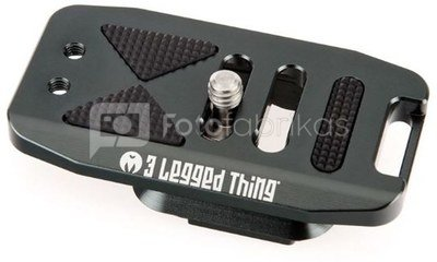 3 Legged Thing 70mm Base Plate with screen slope and strap connector. Compatible with PEAK DESIGN & Arca Swiss Grijs