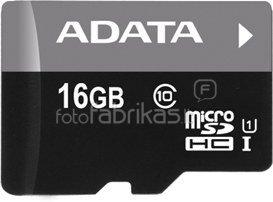 A-DATA 16GB Premier microSDHC UHS-I U1 Card (Class 10) with micro reader V3 bkbl, retail